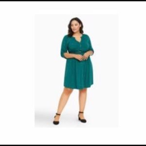 SENFLOCO Plus size 4XL half sleeve shirt dress.